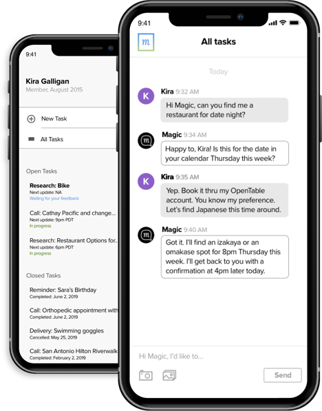 virtual personal assistant on iPhone